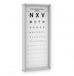 Tableau optométrique  non lumineuse – Momoyer 3 mètres