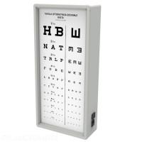 Tableau optométrique lumineux décimal mixte 3 mètres