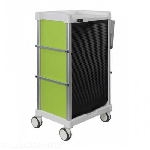 Chariot à médicaments - 16 niveaux - CAMELEON Anis 600X400