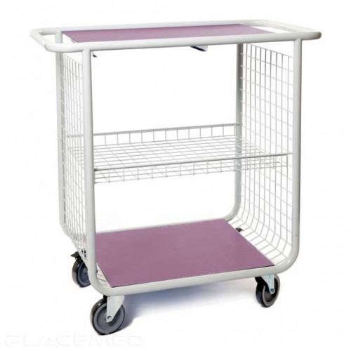 Chariot de change et de toilette - modèle 750 Violet - Dim. 750 x 585 x 1035 mm