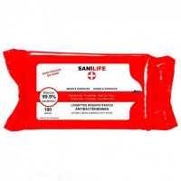 Disinfectant wipes - Box of 100 - SANILIFE