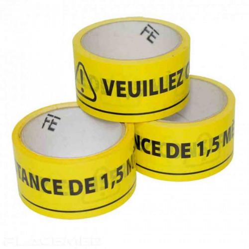 Floor marking roll - yellow and black - 33 meters