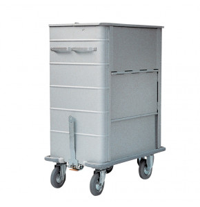 Containers for dirty linen in anodized aluminium