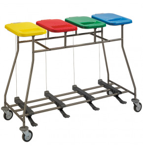 Quadruple bag holder trolley - Iseo 40