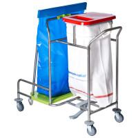 Chariot pour la collecte du linge sale et des déchets