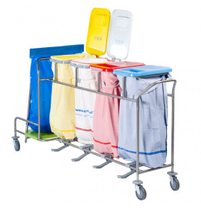 Trolley for dirty linen sorting and waste collection - ISEO Duo