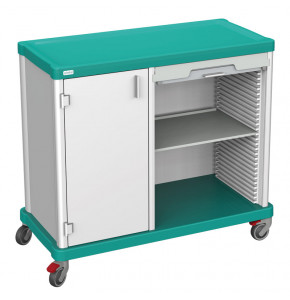 DUAL trolley with door and rolling shutter