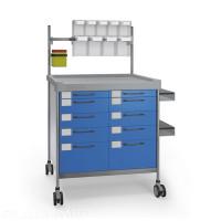 Chariot anesthésie double – INSAUSTI série 300 - 900 x 630 mm