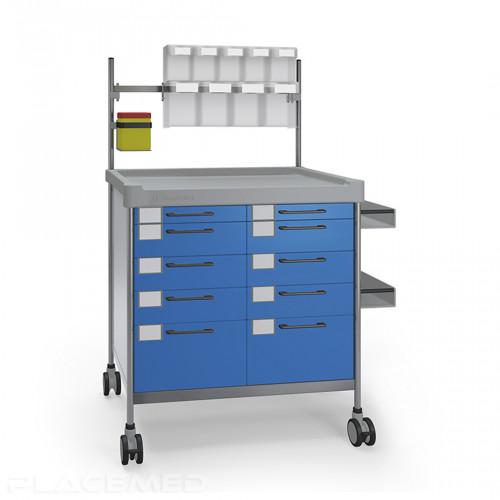 Chariot anesthésie double – INSAUSTI série 300 – Modèle 3934-B 900 x 630 mm