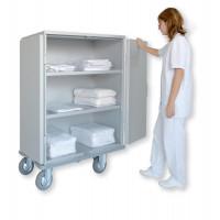 Chariot armoire avec 2 étagères