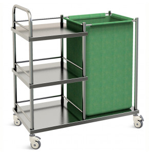 STAINLESS STEEL LINER THERAPY TROLLEY - SKH027
