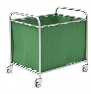 STAINLESS STEEL LAUNDRY TROLLEY - SKH040