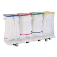 Chariot porte-sac 4 sacs en ligne - 3845 CR